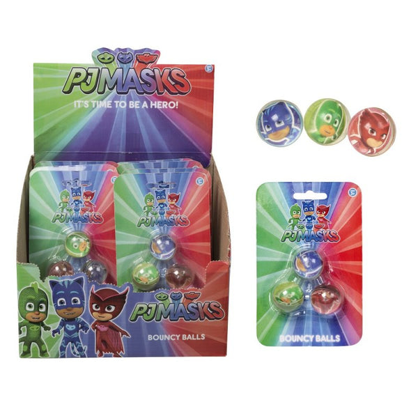PJ MASKS 3 PACK BOUNCY BALL - instige.myshopify.com