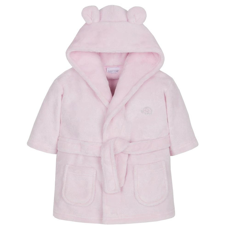 Baby Pink Hooded Dressing Gown (0-6 Months) - instige.myshopify.com