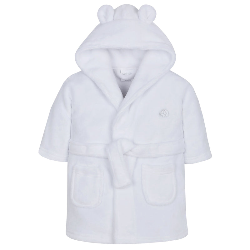Baby White Hooded Dressing Gown (6-24 Months) - instige.myshopify.com