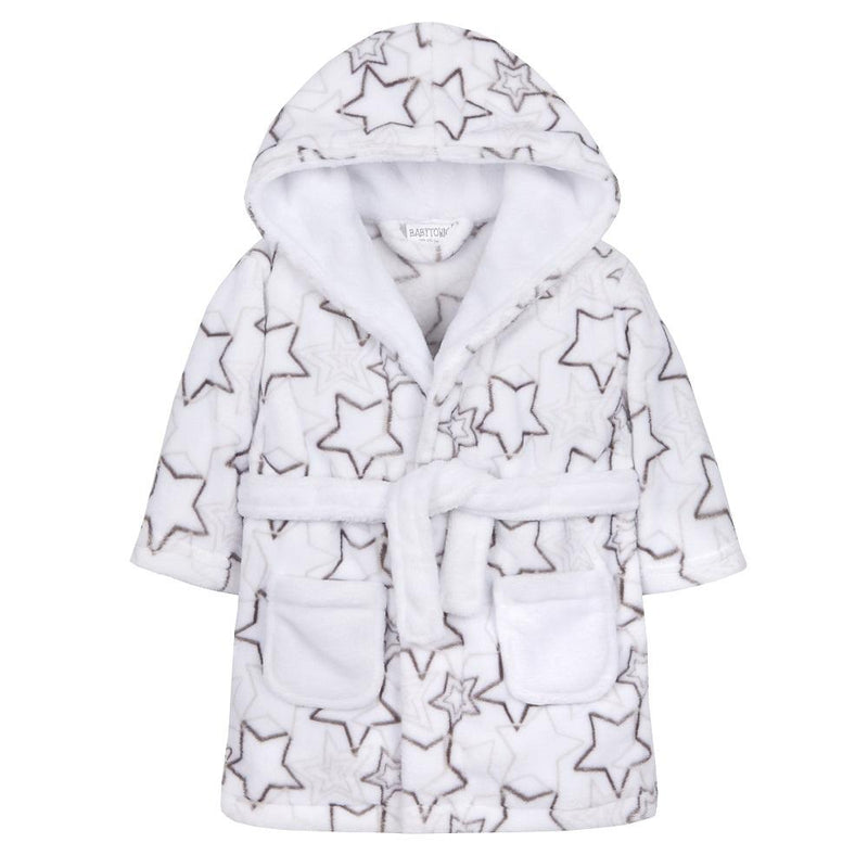 Baby Unisex AOP Shooting Stars Dressing Gown (6-24 Months) - instige.myshopify.com