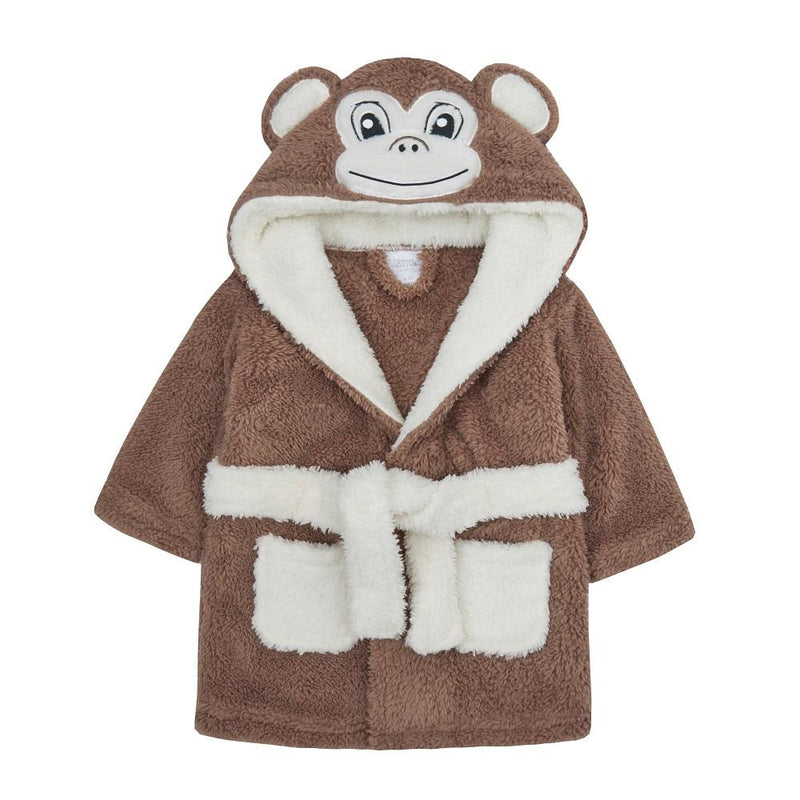 Baby Novelty Monkey Snuggle Fleece Dressing Gown (6-24 Months) - instige.myshopify.com