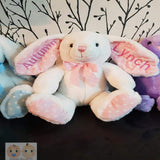 Personalised Long Ear teddy bear polka dots 25cm - Snugdem Boogums