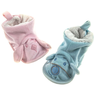 Velour Fleece Bootees (0-12 Months) - instige.myshopify.com