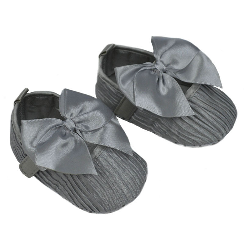 Wrinkled Satin Shoes (6-15 Months) - instige.myshopify.com