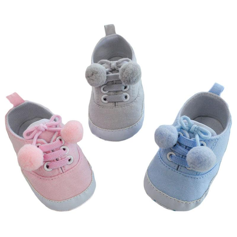 Plain Cotton Twill Shoes (6-15 Months) - instige.myshopify.com