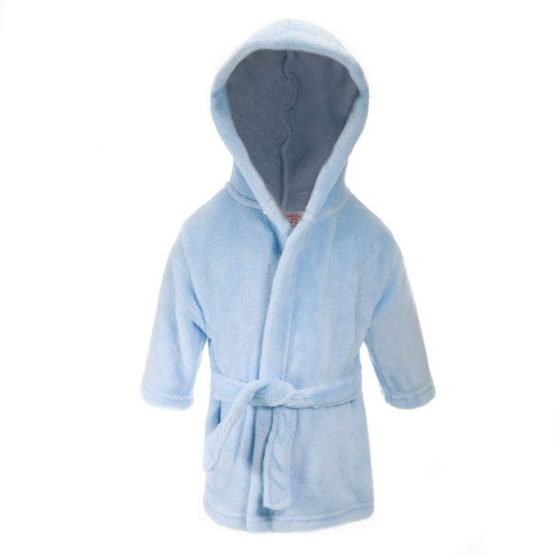 Plain Blue Dressing Gown (0-6 Months Only) - instige.myshopify.com