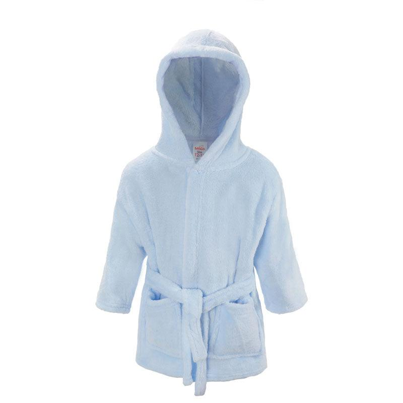 Plain Blue Dressing Gown (12-18 Months Only) - instige.myshopify.com