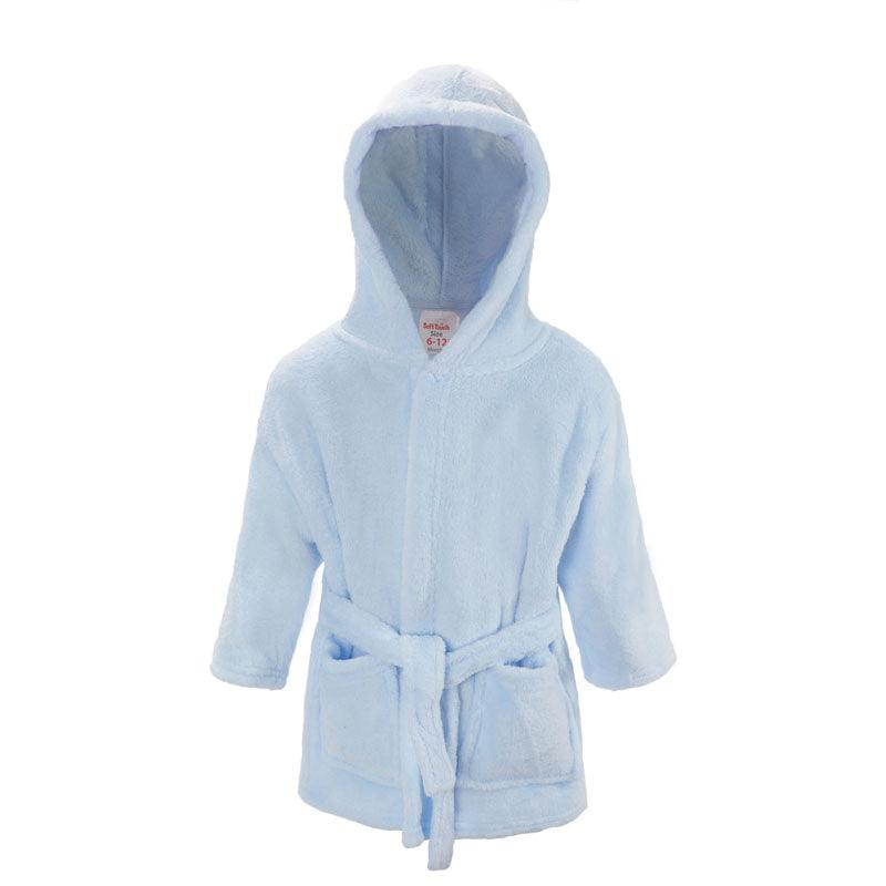 Plain Blue Dressing Gown (6-12 Months Only) - instige.myshopify.com