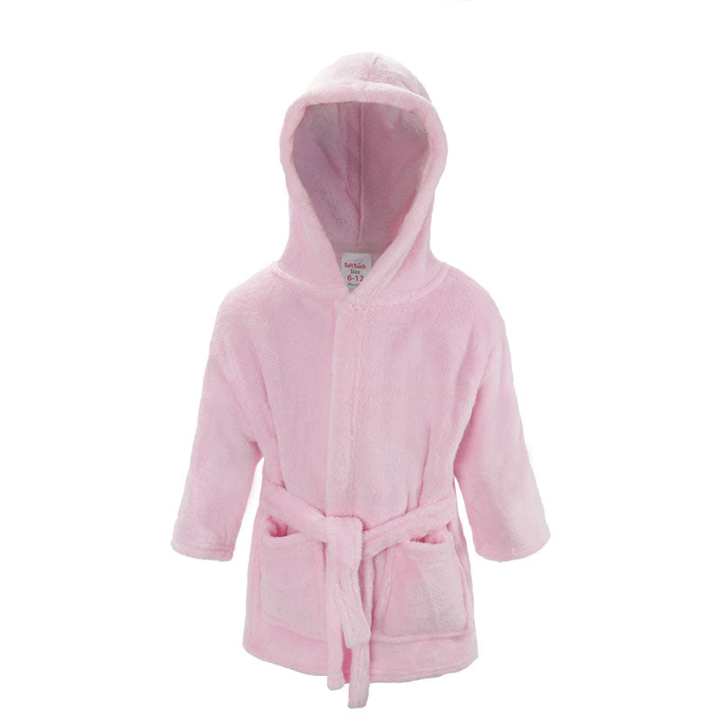 Plain Pink Dressing Gown (6-12 Months Only) - instige.myshopify.com