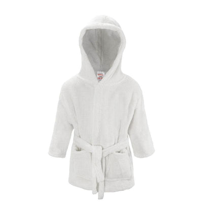 Plain White Dressing Gown (18-24 Months Only) - instige.myshopify.com