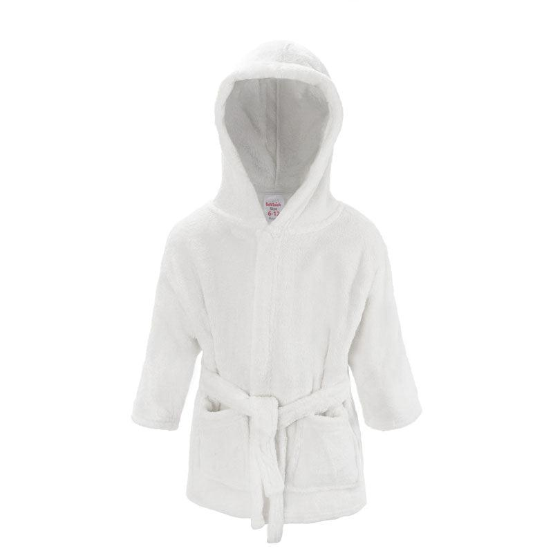 Plain White Dressing Gown (6-12 Months Only) - instige.myshopify.com