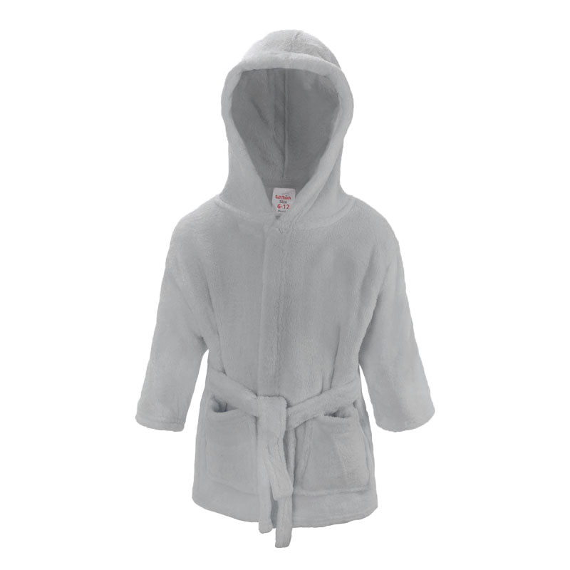 Plain Grey Dressing Gown (6-12 Months Only) - instige.myshopify.com