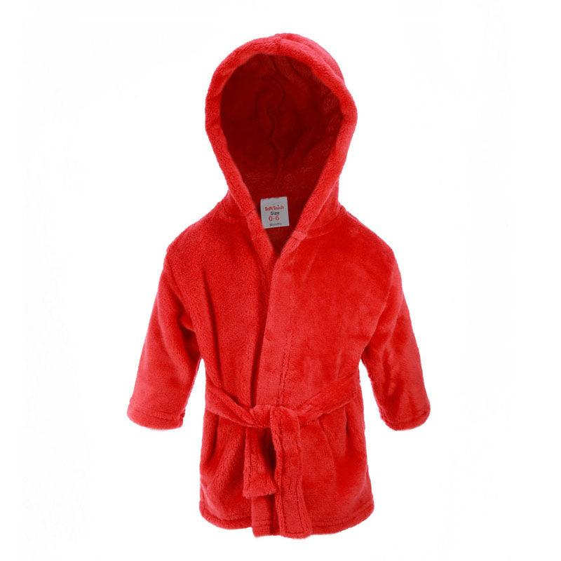 Plain Red Dressing Gown (0-6 Months Only) - instige.myshopify.com