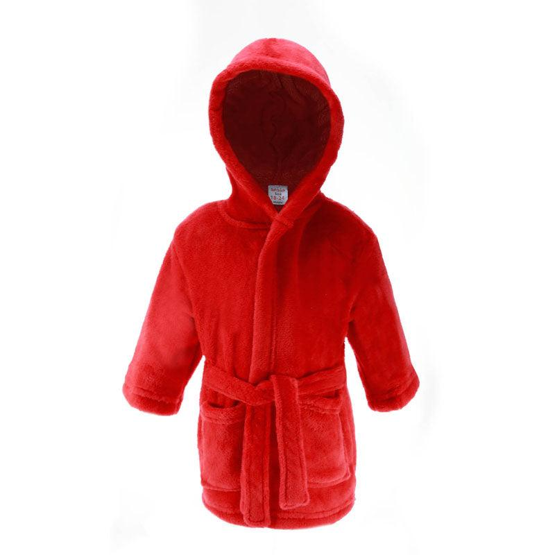 Plain Red Dressing Gown (18-24 Months Only) - instige.myshopify.com