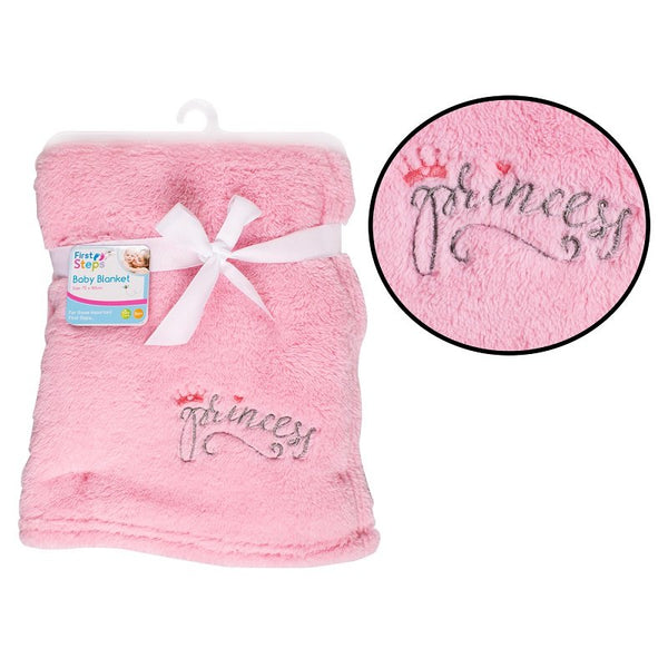 SUPERSOFT PRINCESS FLEECE BABY BLANKET - instige.myshopify.com