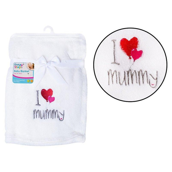 SUPERSOFT I ♥ MUMMY FLEECE BABY BLANKET - instige.myshopify.com