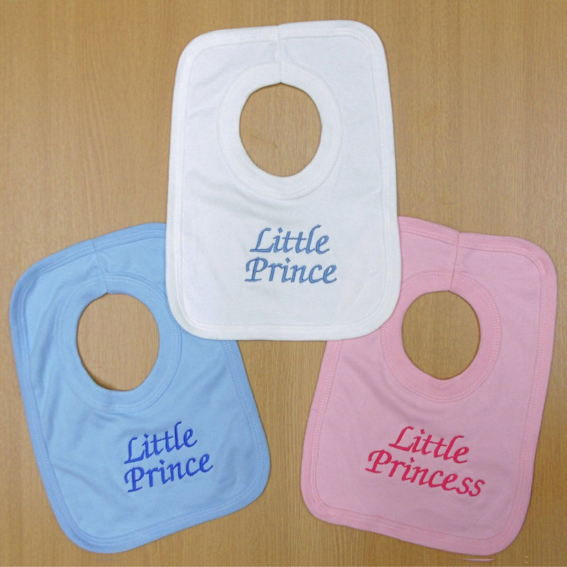 "Embroidered ""Little Prince/Princess"" Bibs - instige.myshopify.com"