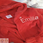 Personalised Red Robe - Snugdem Boogums
