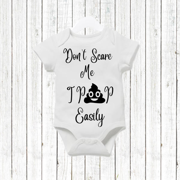 Done scare me i poop easily Baby Vest