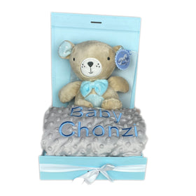 Personalised Musical Gift Bundle - Blanket and Pull Toy