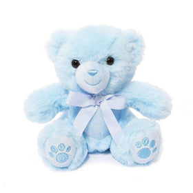 BLUE TEDDY BEAR W/PAWS 15CM