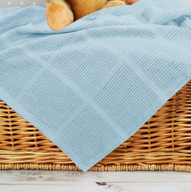 Baby Cellular Blanket - Blue