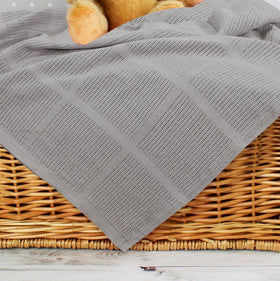 Baby Cellular Blanket - Grey