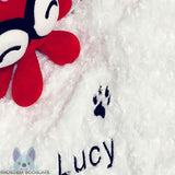 Personalised White Pet Blanket