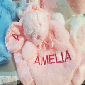 Personalised Bunny Comforter - Pink