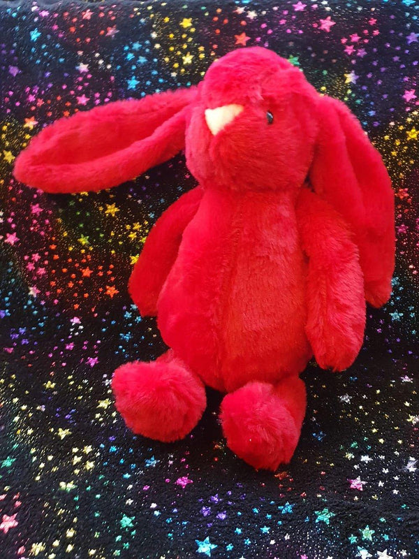 Large Cuddly Long Eared Baby Bunny Rabbit - Red 41cm
