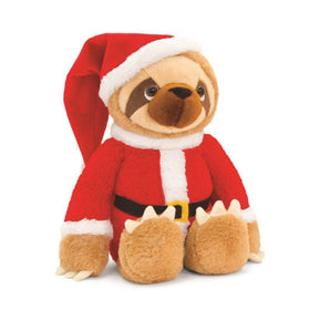 Sloth with Santa outfit