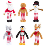 Bundle of six Chsristmas Dangly Cuddly Soft Toys 12cm - instige.myshopify.com
