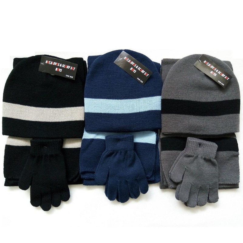 Boys Hat, Scarf & Gloves Set - instige.myshopify.com