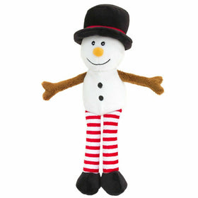 Christmas Dangly Characters Cuddly Snowman 12cm
