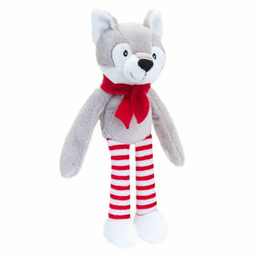 Christmas Dangly Cuddly Soft Wolf 12cm