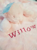 Personalised bear Comforter with ribbon tags - Pink - instige.myshopify.com