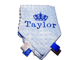 PERSONALISED tag Blankie comforter - Blue - instige.myshopify.com
