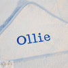 Personalised Blue Bath Wrap - Snugdem Boogums