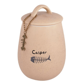 Personalised sand stone Pet cat storage jar