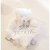 Personalised bear Comforter with ribbon tags - White - instige.myshopify.com