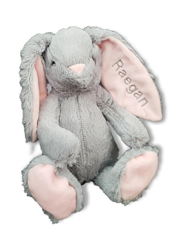 Personalised Plush Grey Bunny Rabbit