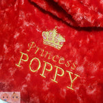 Personalised Luxurious Red Rose Swirl Fleece Blanket