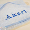 Personalised Blue Hooded Towel - Snugdem Boogums