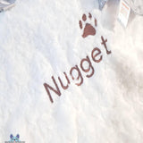 Personalised Pet Blanket - White -SNugdem Boogums