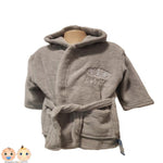 Personalised Baby Dressing Gown bc n bathrobe - grey - instige.myshopify.com