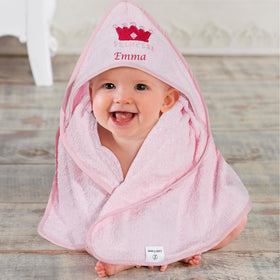 Princess bath towel with crown