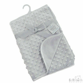 Dimple Grey bubble luxury blanket