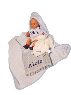 Personalised New Born Gift Bundle - Blue