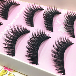 5 Pairs Natural Soft False Eyelashes Long Thick Lashes for Women Gril Lady