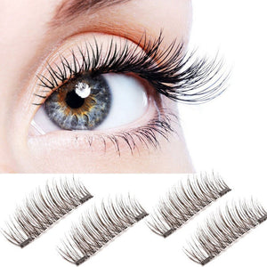 NEW Ultra-thin 0.2mm Magnetic Eye Lashes 3D  Reusable False Magnet